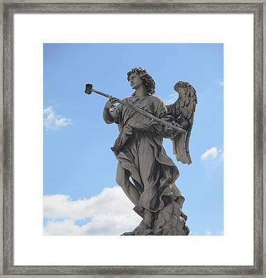 Angel With Sponge Framed Print by Leena Kewlani