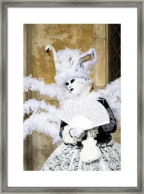 Angel With Swan Detail 2015 Carnevale Di Venezia Italia Framed Print by Sally Rockefeller