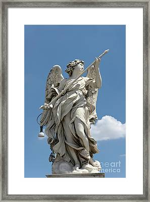 Angel With The Lance Framed Print by Fabrizio Ruggeri