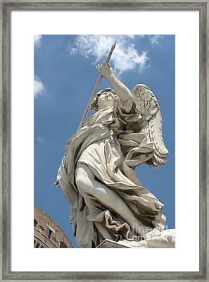 Angel With The Lance II Framed Print by Fabrizio Ruggeri