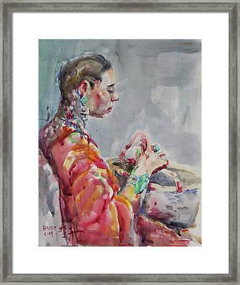 Angelica Framed Print by Becky Kim