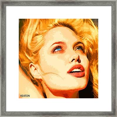 Angelina Framed Print by John Keaton