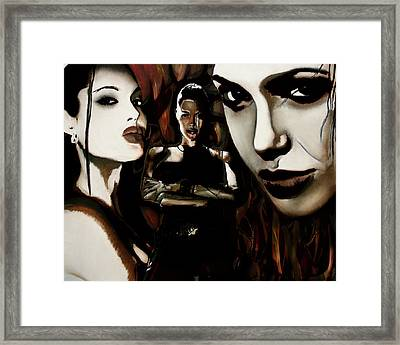 Angelina Jolie Framed Print by Sarah Whitscell