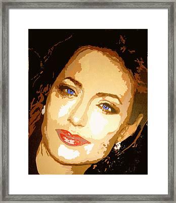Angelina Framed Print by Richard La Valle