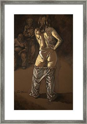 Angelique With Men Framed Print by Paul Herman