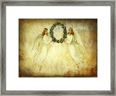 Angels Christmas Card Or Print Framed Print by Bellesouth Studio