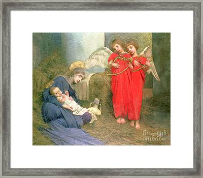 Angels Entertaining The Holy Child Framed Print by Marianne Stokes