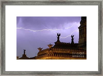 Angels Of Lightning Framed Print by Balanced Art