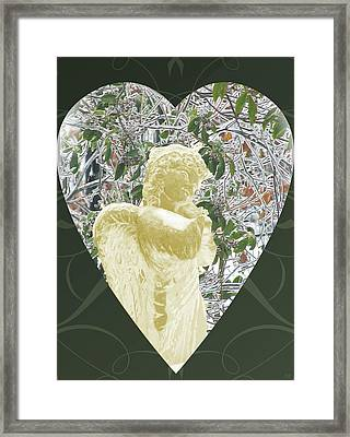 Angels Of The Snow  C Framed Print by Debra     Vatalaro
