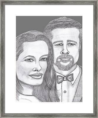 Angie And Brad Framed Print by Richard Heyman