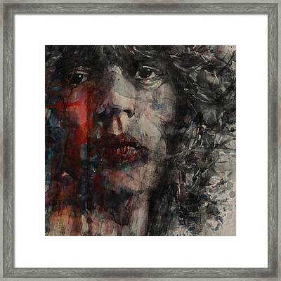 Angie I Still Love You Baby  Every Where I Look I See Your Eyes Framed Print by Paul Lovering