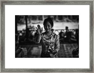 Angkor Wat Temple Dancer 1 Framed Print by David Longstreath