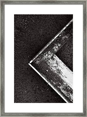 Angle Iron...black And White Framed Print by Tom Druin