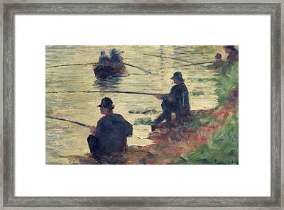 Anglers Framed Print by Georges Pierre Seurat