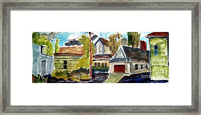 Anglican Rectory Back Alleyway Framed Print by Charlie Spear