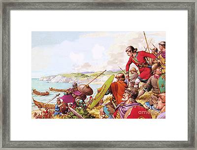 Anglo Saxon Invaders Framed Print by Pat Nicolle