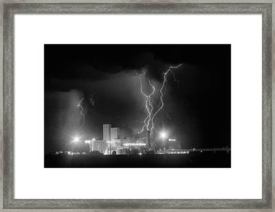 Anheuser-busch On Strikes Black And White Framed Print by James BO  Insogna