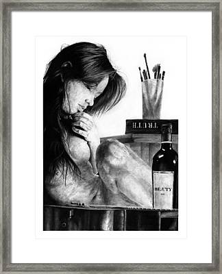 Anima Framed Print by Priscilla Vogelbacher
