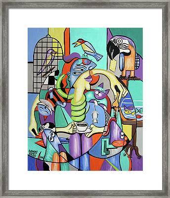 Animal Lover Framed Print by Anthony Falbo