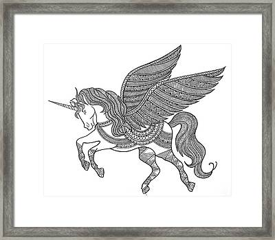 Animal Unicorn Framed Print by Neeti Goswami