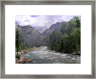 Animas River Morning Framed Print by Peter  McIntosh