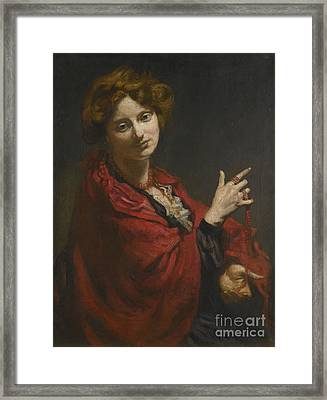 Anita Bartle The Red Shawl Framed Print by Sir William Orpen