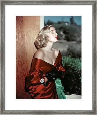 Anita Ekberg, 1950s Framed Print by Everett