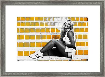 Anna Kournikova Framed Print by Brian Reaves