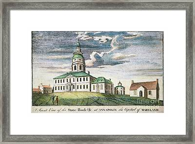 Annapolis, Maryland, 1786 Framed Print by Granger