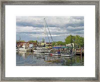 Annapolis Maryland City Dock Ego Alley Framed Print by Brendan Reals