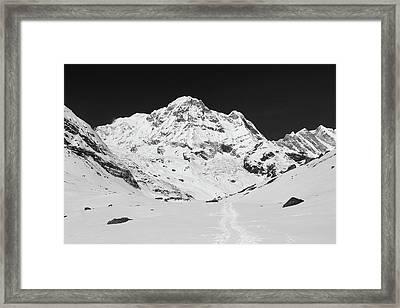 Annapurna South From Annapurna Base Camp Framed Print by Aidan Moran