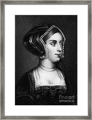 Anne Boleyn, Queen Of England Framed Print by Photo Researchers