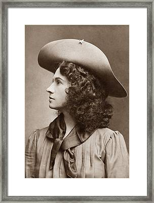 Annie Oakley - Little Sure Shot Framed Print by War Is Hell Store