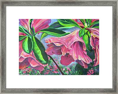 Announcement Of Spring Framed Print by Lee Nixon