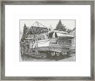 Annual Haul Out Chris Craft Yacht Framed Print by Jack Pumphrey