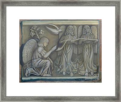Annunciation - Existing Fragment Framed Print by Anna Folkartanna Maciejewska-Dyba