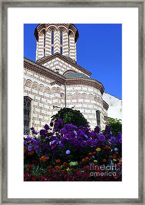 Annunciation Church Of St. Anthony In Curtea Veche Framed Print by Barbie Corbett-Newmin