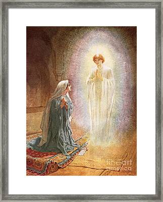 Annunciation Framed Print by William Brassey Hole