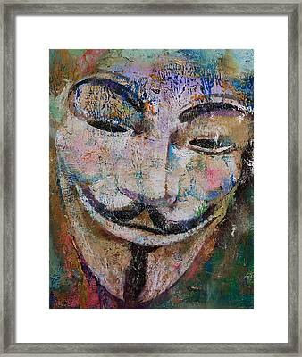 Anonymous Framed Print by Michael Creese