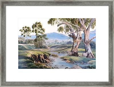 Another Australia Day Framed Print by Diko