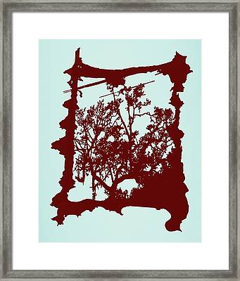 Another Creepy Tree Framed Print by Kristin Sharpe