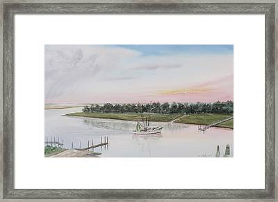 Another Day At The Office Framed Print by Lane Owen