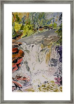 Another Look At The Temperance Falls Framed Print by Patricia Bigelow