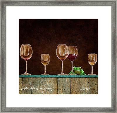 Another Night Of Bar Hopping... Framed Print by Will Bullas