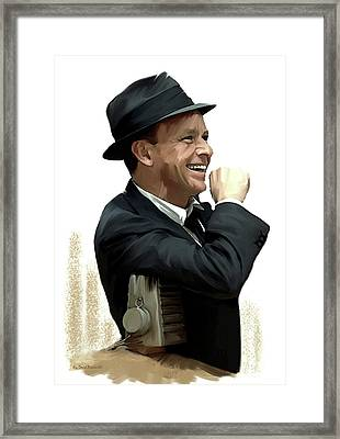 Another Side Of  Frank Sinatra Framed Print by Iconic Images Art Gallery David Pucciarelli