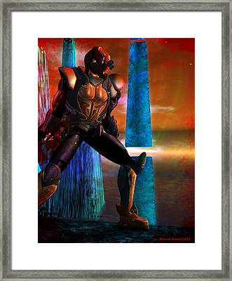 Another Super Hero Framed Print by Monroe Snook