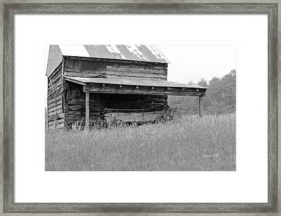 Another Time -- Black And White Framed Print by Suzanne Gaff