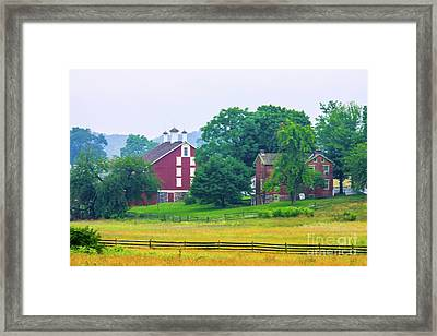 Another View, Cordi Farm Gettysburg Battlefield Framed Print by William Rogers