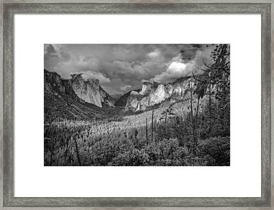Ansel Adams Inspired Yosemite Tunnel View Framed Print by Scott McGuire