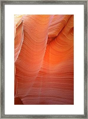 Antelope Canyon - A Dazzling Phenomenon Framed Print by Christine Till